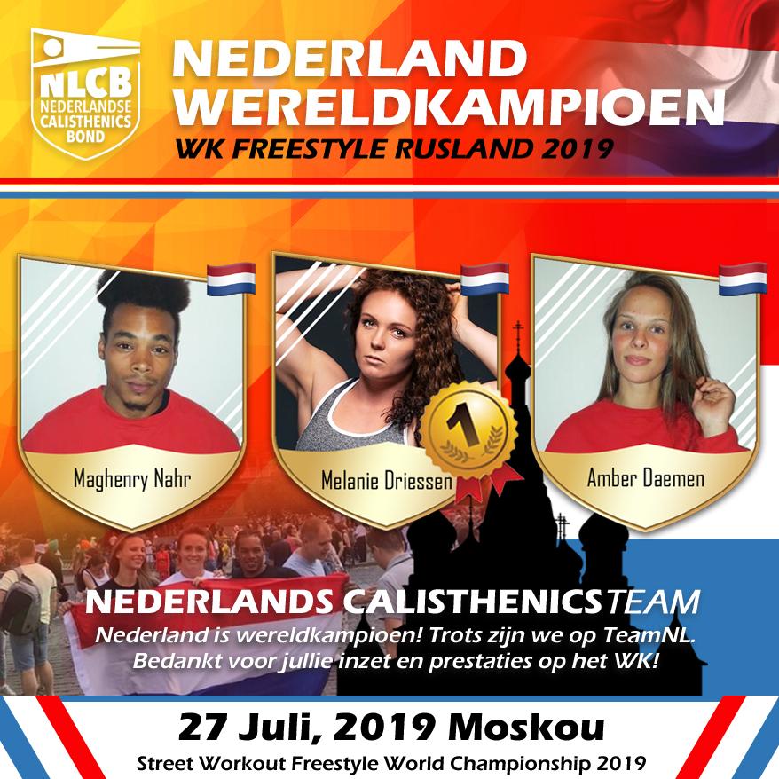 Nederland wereldkampioen 2019